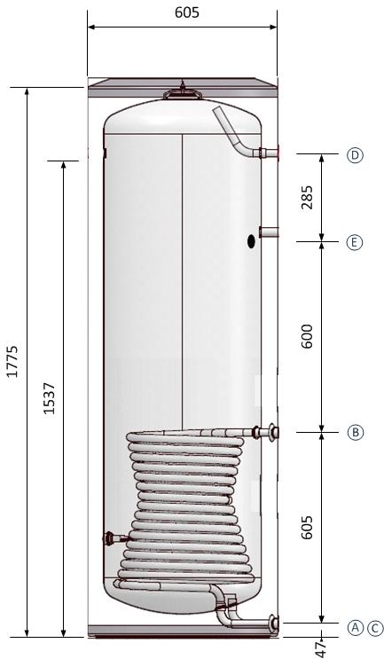Ballon ECS 300L 1.3m²